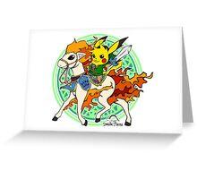 Linkachu Ponyta Greeting Card