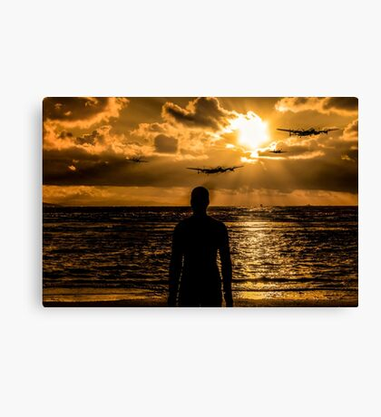 We will fight them on the beaches... Canvas Print