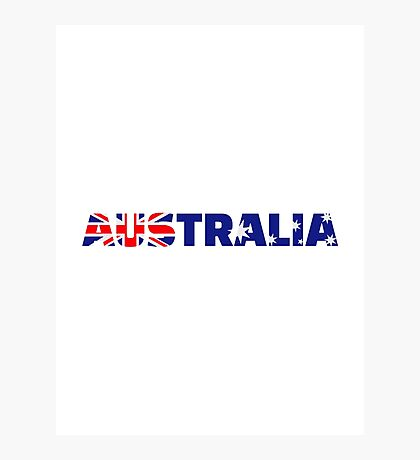 Australia flag Photographic Print