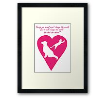 Dog and Cat Heart Framed Print