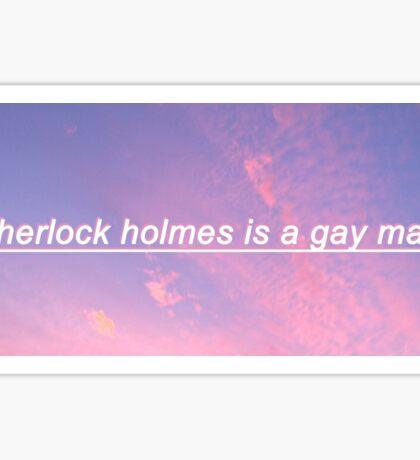 Sherlock Is A Gay Man Sticker
