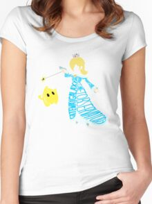 Rosalina Typography Women's Fitted Scoop T-Shirt