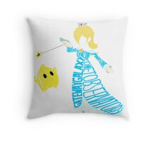 Rosalina Typography Throw Pillow