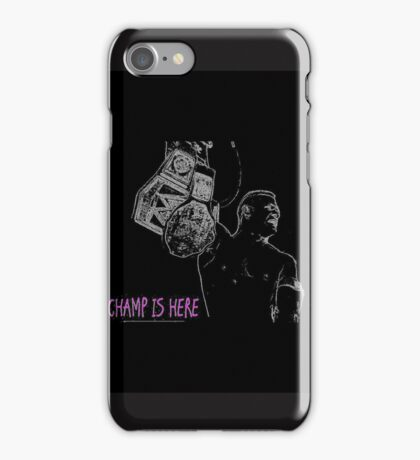 john cena the champ is here _ wwe_black by sakhan artworks iPhone Case/Skin