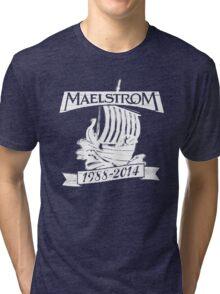 Maelstrom (WHITE) Tri-blend T-Shirt
