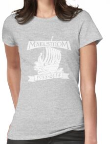Maelstrom (WHITE) Womens Fitted T-Shirt