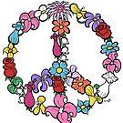 Flower Peace Symbol by Brett Gilbert