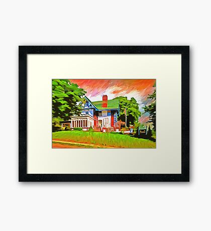 Glick Mansion  Framed Print