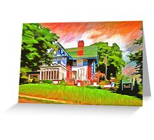 Glick Mansion  Greeting Card