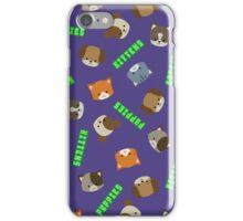 Puppies vs Kittens - Print iPhone Case/Skin