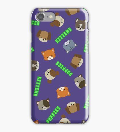 Puppies vs Kittens - Print iPhone Case/Skin