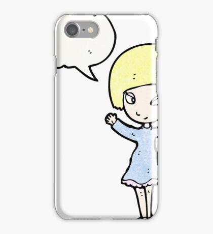 pretty blond girl cartoon iPhone Case/Skin