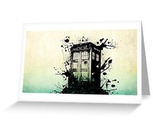 Doctor Who-The Tardis Greeting Card