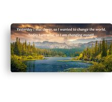 Today I Am Wise Canvas Print