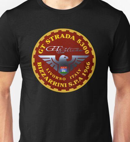5300 GT STRADA Bizzarrini S.p.A LIVORNO Logo Unisex T-Shirt