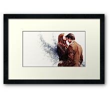 Doctor Who-Amy and The Doctor Framed Print