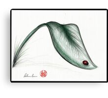 """Leaf Me Alone"" - Ladybug drawing Canvas Print"