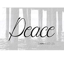 Peace (Matthew 6:25-34) Photographic Print