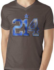 214 Bling (Blue 21/White 4) Mens V-Neck T-Shirt