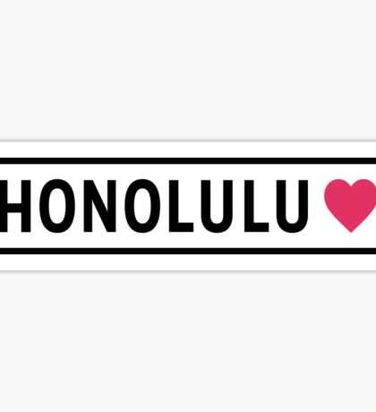 Honolulu HI Lite Sticker