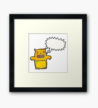 crazy cartoon cat Framed Print