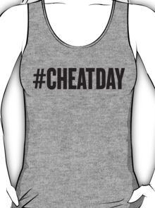 # CHEATDAY, Black Ink | Womens Fitness Racerback Tank Top, Crossfit Quotes T-Shirt