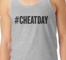 # CHEATDAY, Black Ink | Womens Fitness Racerback Tank Top, Crossfit Quotes Tank Top