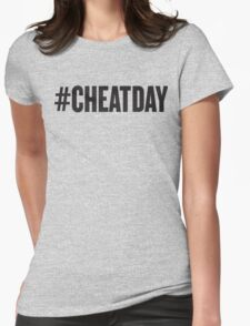 # CHEATDAY, Black Ink | Womens Fitness Racerback Tank Top, Crossfit Quotes Womens Fitted T-Shirt