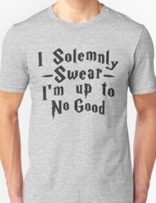 I Solemnly Swear I'm Up To No Good, Black Ink | Women's Harry Potter Quote, Deathly Hallows T-Shirt
