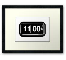 11AM Framed Print
