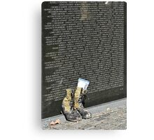 A soldier's boots Canvas Print
