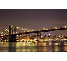 Brooklyn Bridge, Manhattan  Photographic Print