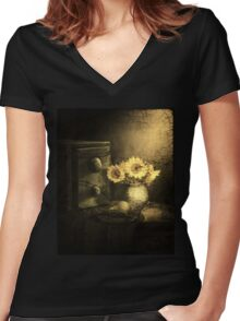 You'll be safe Women's Fitted V-Neck T-Shirt