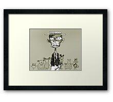 cartoonist Framed Print