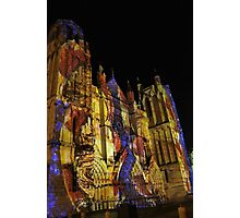 6 illuminations Cathédrale de Poitiers Par kolektifalambik.net - Photos  panasonic fz 2000 par Okaio Créations Photographic Print