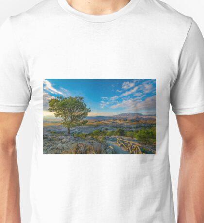 The pilgrims trail at Cueva de San Pascual Unisex T-Shirt