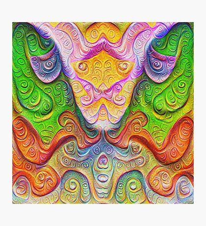 Color Stone carving #DeepDream Photographic Print