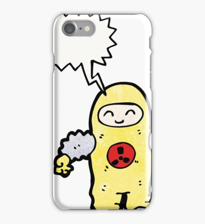 man in radiation proof suit iPhone Case/Skin