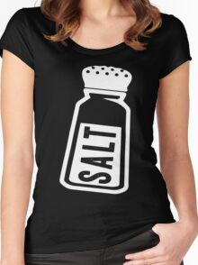 Salt \ Peppa 1/2, White Ink | Women's Best Friends Shirts, Bff Stuff, Besties, Halloween Costume, Salt And Pepper Shakers Women's Fitted Scoop T-Shirt