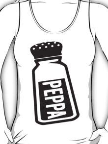Salt \ Peppa 2/2, Black Ink | Women's Best Friends Shirts, Bff Stuff, Besties, Halloween Costume, Salt And Pepper Shakers T-Shirt