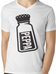 Salt \ Peppa 2/2, Black Ink | Women's Best Friends Shirts, Bff Stuff, Besties, Halloween Costume, Salt And Pepper Shakers Mens V-Neck T-Shirt