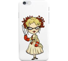 ITS A CLUE! Was it Mrs. Peacock with the KNIFE? iPhone Case/Skin