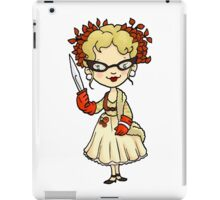 ITS A CLUE! Was it Mrs. Peacock with the KNIFE? iPad Case/Skin