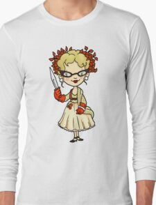 ITS A CLUE! Was it Mrs. Peacock with the KNIFE? Long Sleeve T-Shirt
