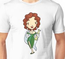 ITS A CLUE! Was it Ms. Scarlet with the CANDLESTICK? Unisex T-Shirt