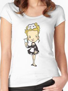 ITS A CLUE! Was it POISON? Maybe the maid did it! Women's Fitted Scoop T-Shirt