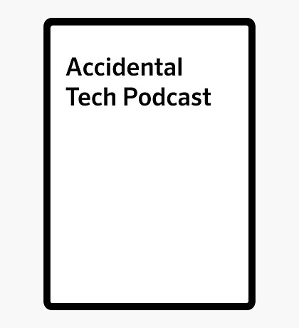 Accidental tech podcast shirt Photographic Print