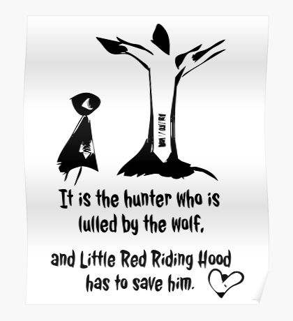 Little Red Riding Hood T-Shirt Poster