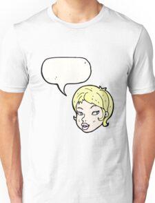 cartoon pretty blond girl Unisex T-Shirt