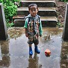 boy at Nalanda monastery by Istvan Hernadi